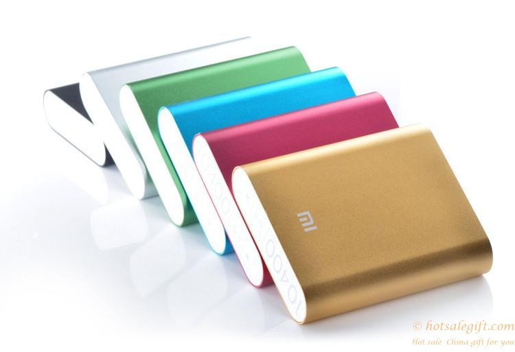 multicolor alloy shell xiaomi mi mobile power bank charger