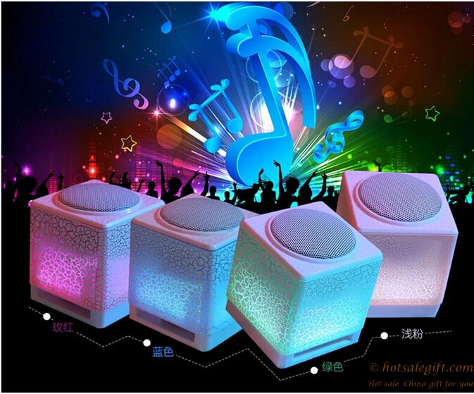 hotsalegift moonlight appearance builtin bright marquees crack striped  small speakers