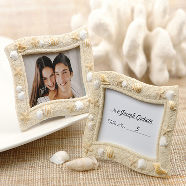Beach-Themed Photo Frame resin place card holder favor for wedding ...