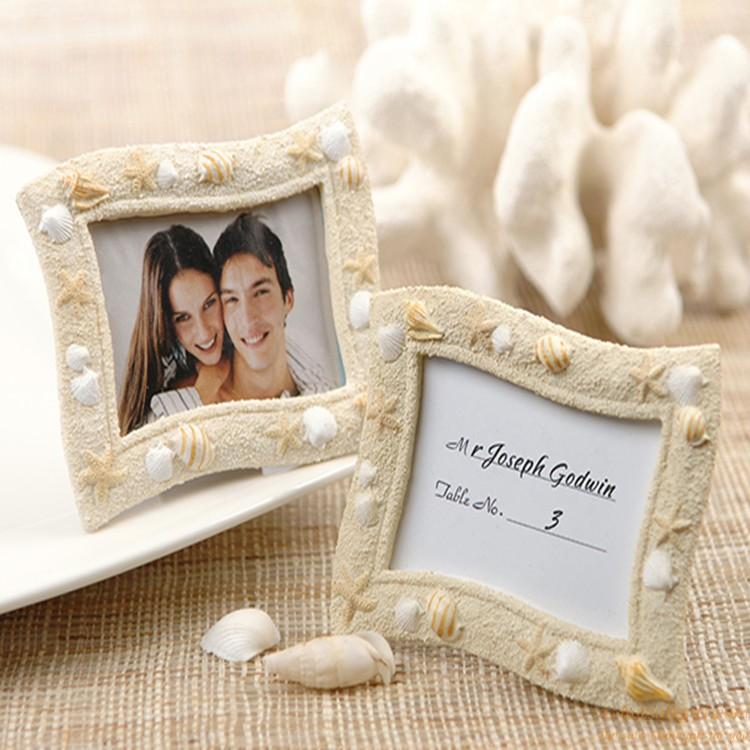 Beach Themed Photo Frame Resin Place Card Holder Favor For Wedding