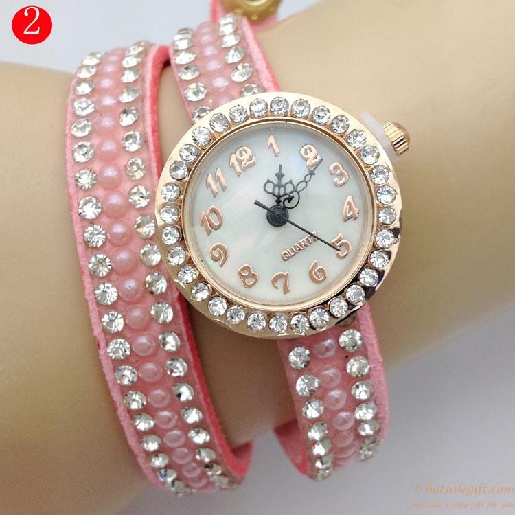 Full diamond fashion bracelet quartz glass watch for girls | Hot ...