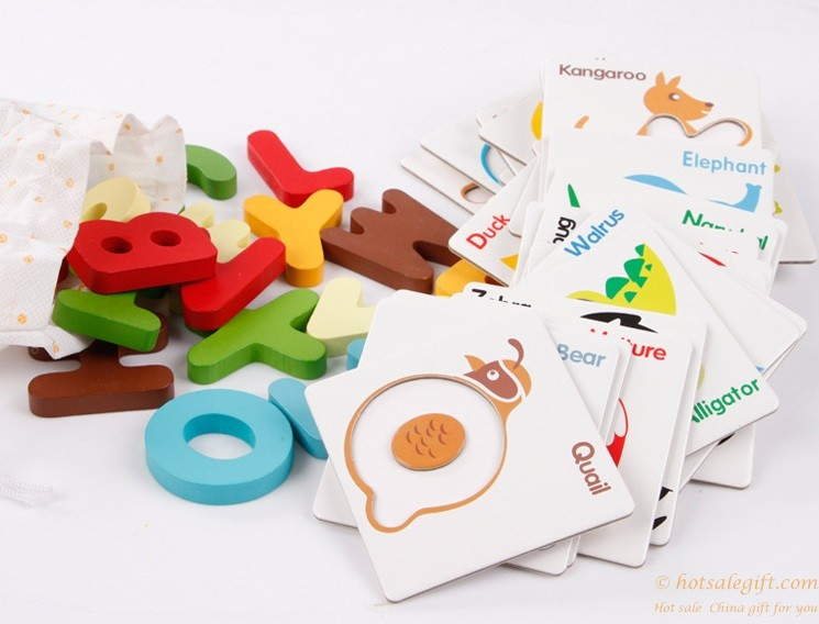 Alphabet Learning Toys : Wooden early education kindergarten learning toys english alphabet