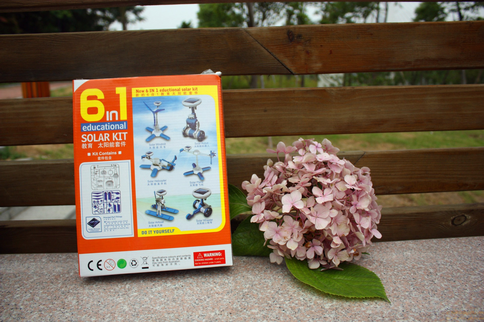 6 in 1 educational solar kit solar DIY toys for boys