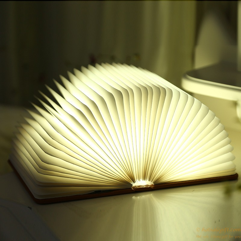 크리 에이 티브 LED 램프 접이식 플립 책 USB 야간 조명  뜨거운 ...