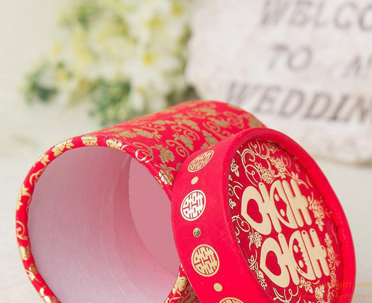 Chinese Style Red Double Happiness Bronzing Paper Candy