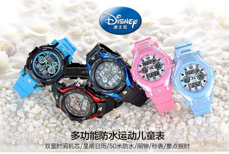 Pohodě multifunkční dual display 50 m Super nepromokavé OEM elektronické  děti sportovní hodinky Disney b00deac685a