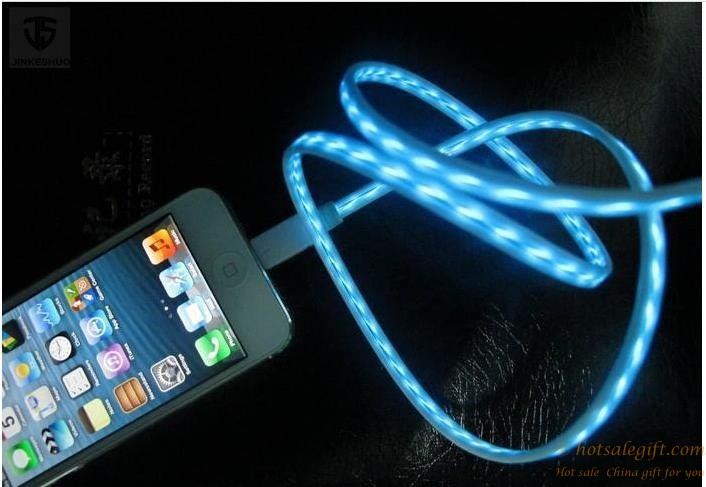 Flowing Led Usb Charger Data Sync Cable Hot Sale Gift