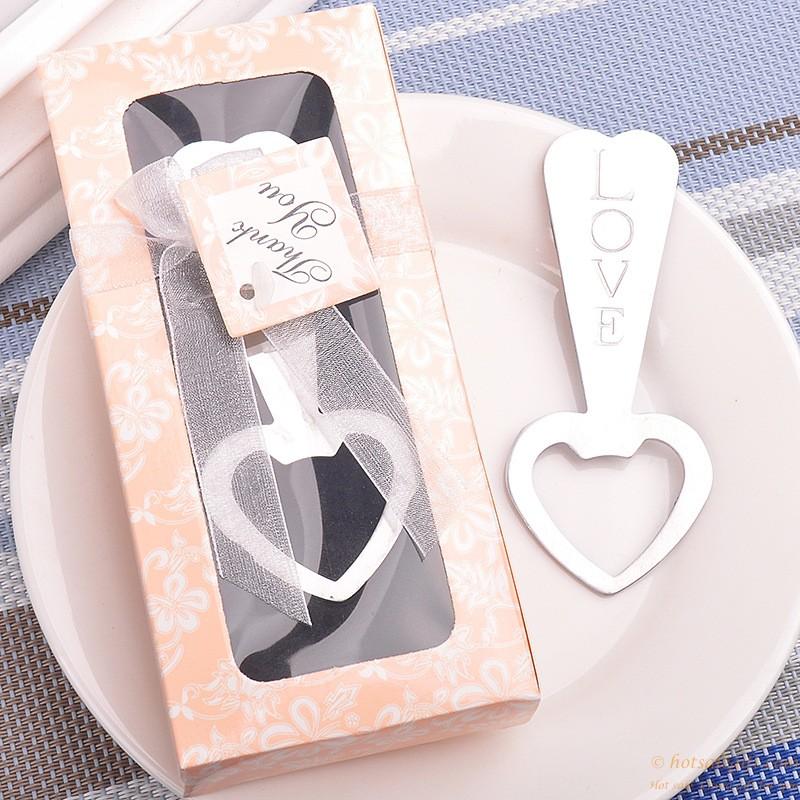 Metal Love Heart Shaped Bottle Opener Wedding Favors Hot Sale Gift