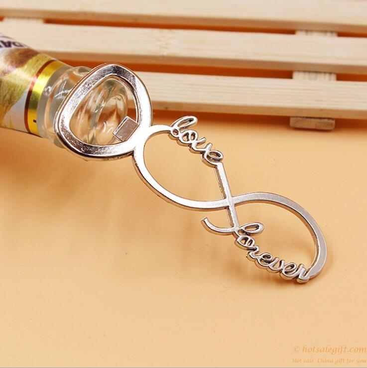 Infinity Love Zinc Alloy Beer Bottle Opener Wedding Favors Hot